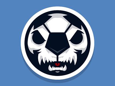 monstergoal  soccer ball soccerball vector sport logo monster angry mad tounge