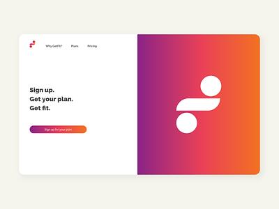 Landing Page // Concept website branding illustration concept icon gradient ux design ux ui design