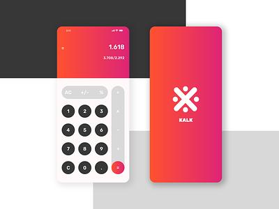 Calculator // Concept gradient ux design logo icon branding app ux ui design concept