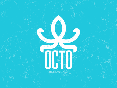 Octopus logo geometric ocean logo restaurant logo restaurant typography vector octopus dailylogochallenge logotype brand identity logo design design branding logo