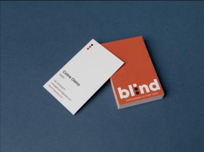 Blind-magazine visit card