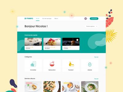 """Homepage """"Meero easy order"""""""