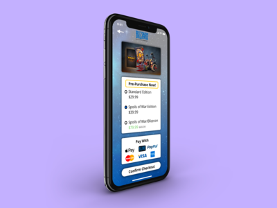 DailyUI Checkout Mobile