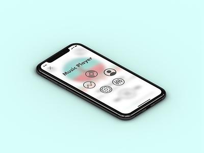 Menu Screen - Music Player ( 1 of 4) mobile app adobe photoshop ux sketch daily 100 ui design