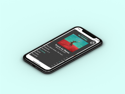 Album Display - Music Player ( 4 of 4) mobile app adobe photoshop ux sketch ui design daily 100