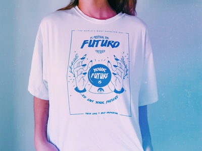 El Festival Del Futuro fashion brand fashion camisetas apparel design graphic design typography poster art illustration festival poster design