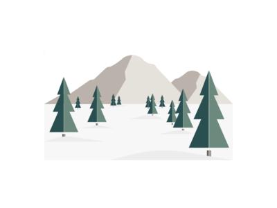 Mountains & Evergreens