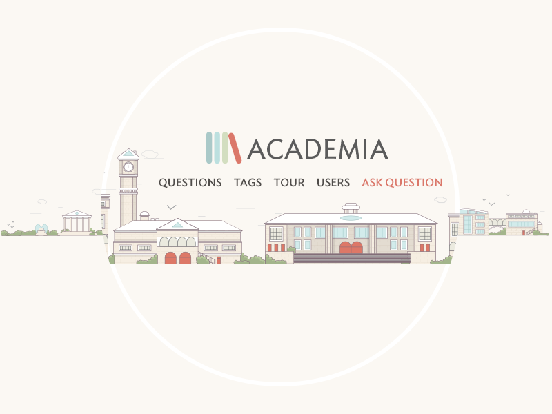 Academia illustration logo minimalist illustration town city building university stack exchange vector simple line academy