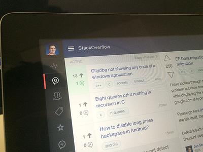 [WIP] StackExchange ipad app stackexchange stack exchange stack overflow stackoverflow app ipad feed list menu ux ui