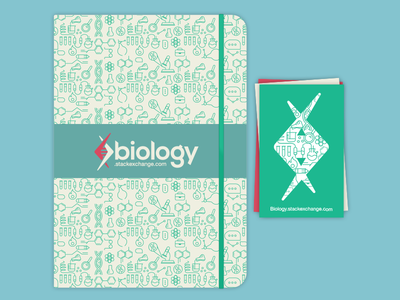 Biology Swag (booklet & stickers) stickers booklet science typography custom font dna icon dna logo stack overflow stack exchange biology