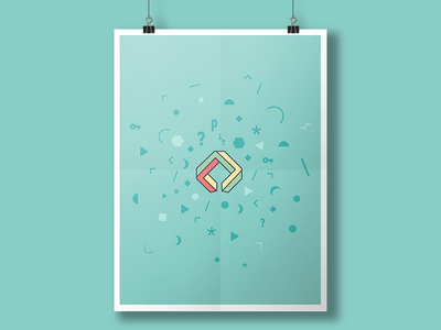 Poster for puzzling site identity green keyhole impossible geometry impossible shape puzzling stack exchange stack overflow logo
