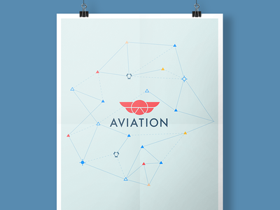 Aviation Poster connected dots dots constellation fly flight plane aviation stack exchange stack overflow logo