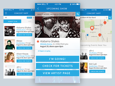 ConcertYapp events app event app events concert mobile