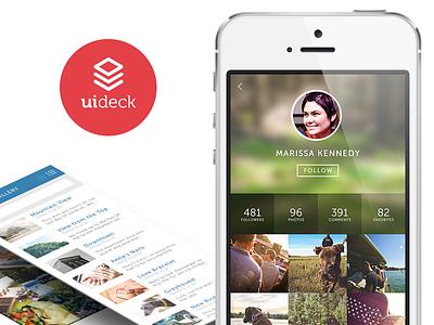 UI Deck mobile profile ionic mobile