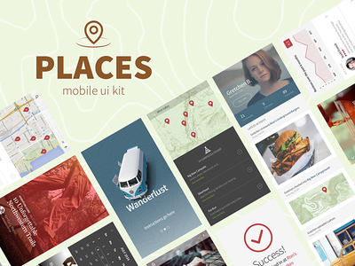 Places UI Kit released map check-in geography store locator search event events maps location travel