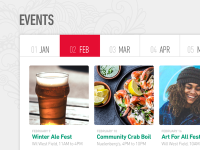 Commmunity Calendar calendar of events events calendar