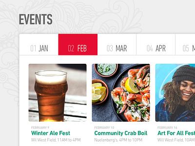 Commmunity Calendar calendar of events events calendar