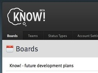 Know! user interface