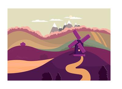 Nature landscape vector illustration