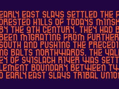 Minsk Sans ⎯ typeface