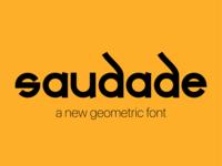 Saudade Geometric Font