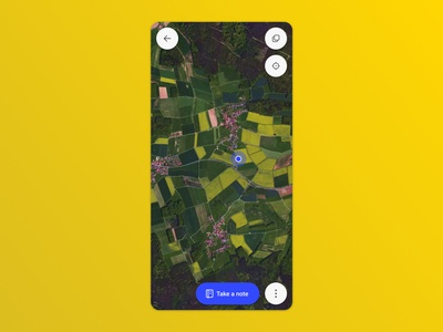 Scouting map ux farming call to action ui mobile ui mobile map navigation actions