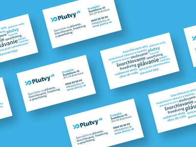 Plutvy.sk | Business Cards sport water sports business card typography type flat minimal logo design branding
