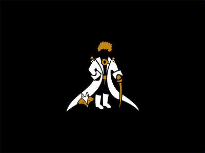 The Little Prince Restaurant | Logo prince fox flat logo negative space logo restaurant logo little prince minimal illustration branding