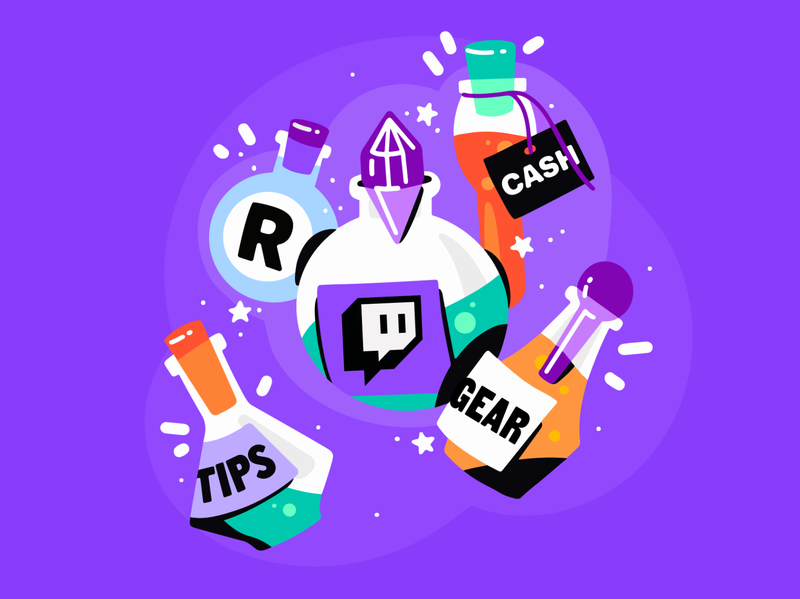 Complete Twitch guide from Restream guide tips magical chemistry poison magic stream streaming illustration