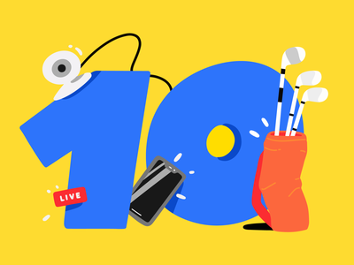 10 Best Ways golfing video camera livestreaming live stream streaming stream illustration