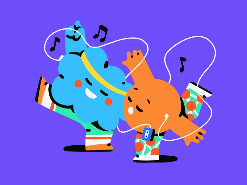 Nice dancing guys 🥁 dance character design character illustration