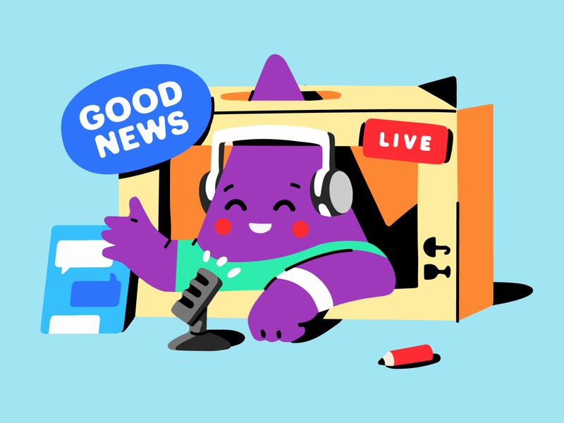 Young streamer 😆🎥 restream streamer news chat livestream overlays stream streaming illustration