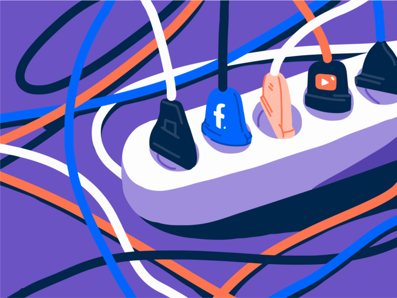 So many platforms! streaming youtube facebook platforms stream art illustration