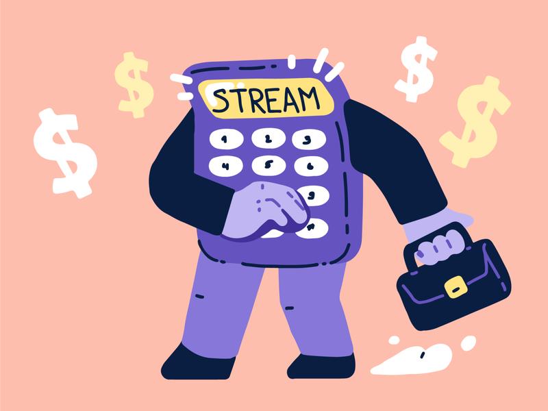 SALES & LIVE STREAMING fun sales artwork streaming stream illustration
