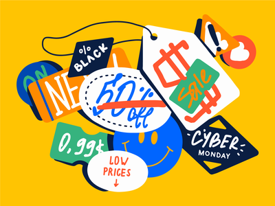 FLASH SALES sticker shopping shop price prices cyber monday black friday sale black friday live streaming business customers sales sale flash sales streaming stream illustration