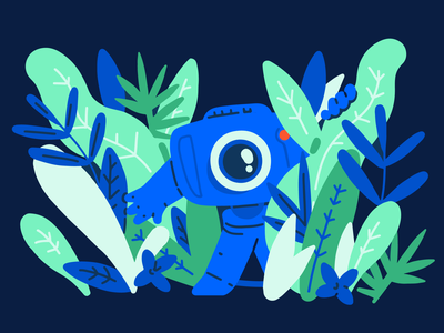 Cute camera in the jungle streaming traveling tips socialmedia stream gopro jungle camera cute illustration