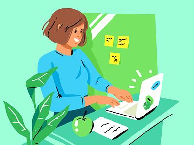 Education 🚌 girl workinprogress workspace study learning illustration education