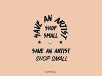 Save an Artist Shop Small - campaign