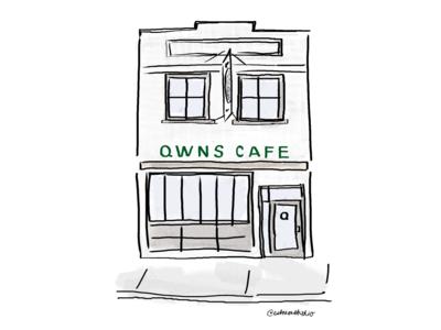 QWNS Cafe Custom Illustration
