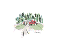 ours. - Custom Home Illustration