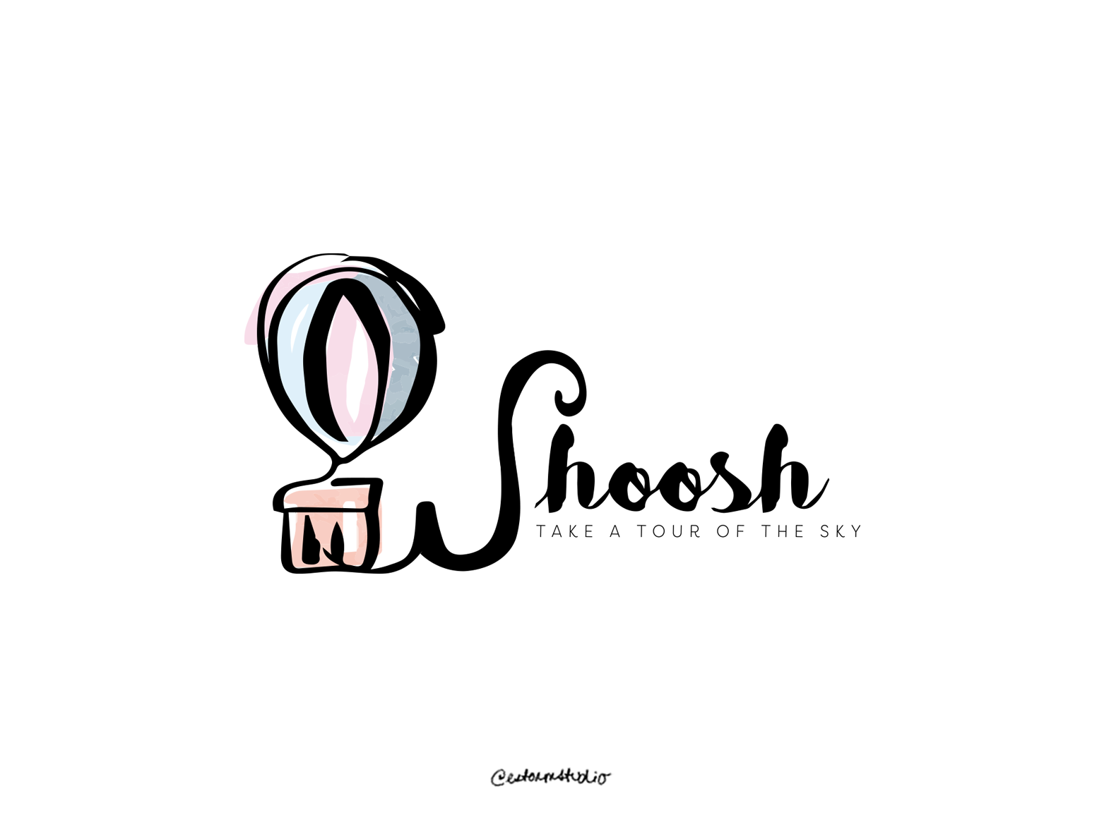 02 / Whoosh daily logo design daily logo challenge typography vector campaign logo advertising website branding whimsical minimal icon watercolor illustration design