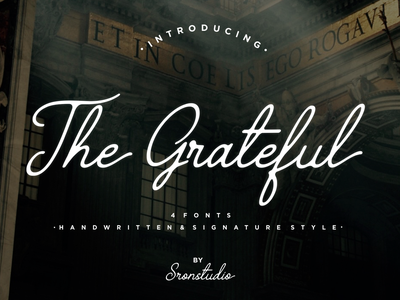 The Grateful Signature design luxury font branding illustration typography script font script stylish signature natural minimalist logo feminime fashion exclusive elegant classic casual business