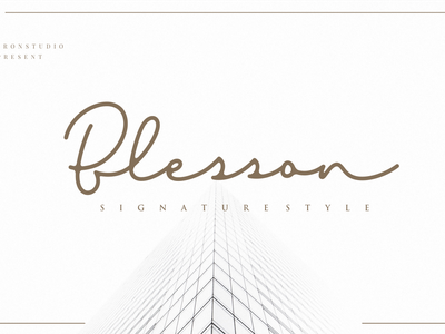 Blesson Signature branding simple vector illustration typography script font script luxury stylish signature natural minimalist logo feminime fashion exclusive elegant classic casual business