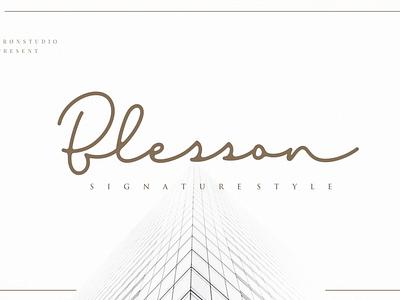 Blesson Signature branding simple vector illustration typography script font script luxury stylish signature natural minimalist logo feminime fashion exclusive elegant classic casual business