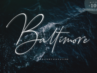 Baltimore Signature Family font branding simple illustration typography script font script luxury stylish signature natural minimalist logo feminime fashion exclusive elegant classic casual business