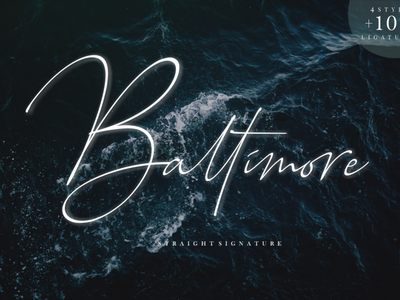 Baltimore Signature Family font branding simple illustration typography script font script luxury stylish signature natural minimalist logo feminime fashion exclusive elegant classic casual business