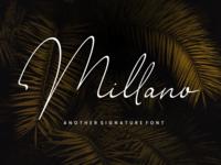 Millano // Signature Font