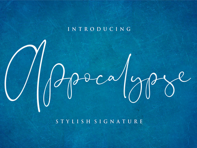 Appocalypse Signature font branding simple illustration typography script font script luxury stylish signature natural minimalist logo feminime fashion exclusive elegant classic casual business