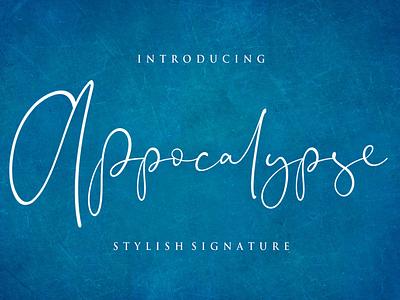 Appocalypse Signature font branding simple illustration typography script font script luxury stylish signature natural minimalist logo feminime fashion exclusive elegant classic casual business
