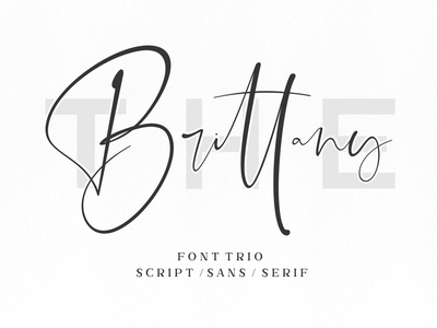 The Brittany // Font Trio stylish simple signature script natural minimalist luxury logo feminime fashion exclusive elegant classic casual business